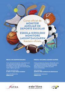 Cartel curso oficial de monitor auxiliar de deporte escolar